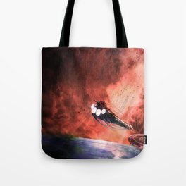 The Intrepid arrives at Carthage Tote Bag