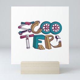 SCOOTER TYPOGRAPHY Mini Art Print