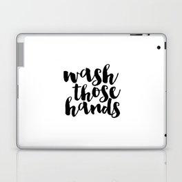 Bathroom art Bathroom sign Printable Hand lettered Nursery Decor kids Bathroom Wall art Print Laptop & iPad Skin