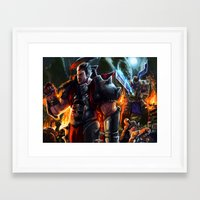 league of legends Framed Art Prints featuring Darius- League of Legends by DragonFlamely