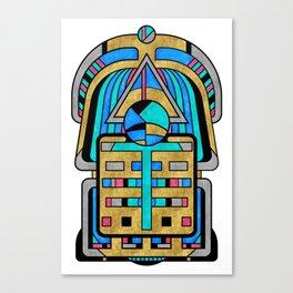 Scarabesque - Digital Art Deco Design Canvas Print