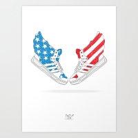 "Adidas JS Wings 2.0 ""Air Force Flag"" Pack Art Print"