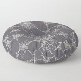 Spiderweb Pattern in Black Floor Pillow