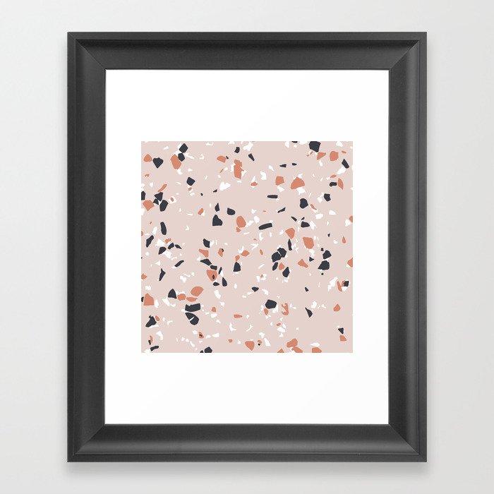 Terrazzo Pink Gerahmter Kunstdruck