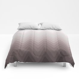Zigzag.White, beige, gray, brown Ombre. Comforters