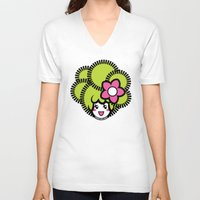 pagan V-neck T-shirts featuring Pagan Lime by Pagan Holladay