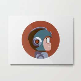 Headgear - Mega Man Metal Print