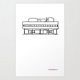 Villa Savoye - Le Corburiser Art Print