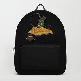 Leprechaun Fishing Gold Coins - Lucky Angler Backpack