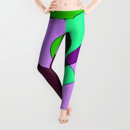 Abstract pattern Cuts Leggings