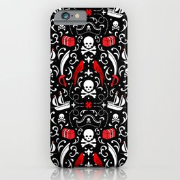 A Pirate's Life Damask iPhone Case
