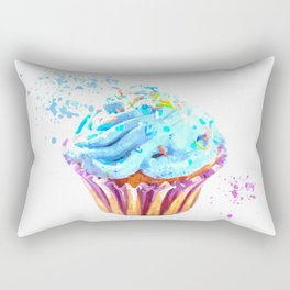 Cupcake watercolor illustration Rectangular Pillow
