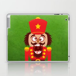 A Christmas nutcracker breaks its teeth and goes nuts Laptop & iPad Skin