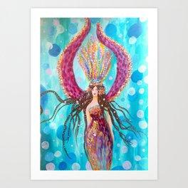 Pisces Moon Art Print
