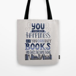 Happiness and Books Tote Bag