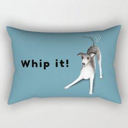 Whip it! (Blue-Gray) Rectangular Pillow