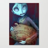 ouija Canvas Prints featuring Ouija by CottonValent