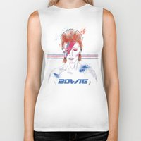 bowie Biker Tanks featuring Bowie by Usagi Por Moi
