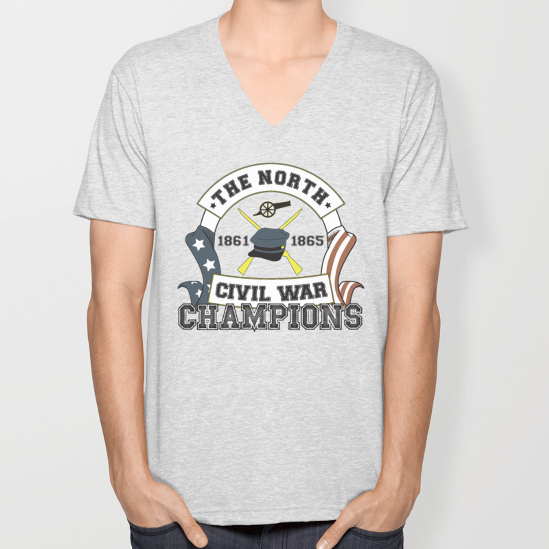 1d3a8e8b American Civil War Champions - Northern Pride - The Union - Parody Shirt  Unisex V-Neck