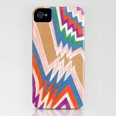 wonky chevron iPhone (4, 4s) Slim Case