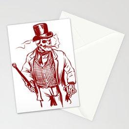 Skeleton gentlemen - Elegant zombie Stationery Cards