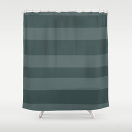 Juniper Berry Green PPG1145-6 Bold Hand Drawn Horizontal Stripes on Night Watch PPG1145-7 Shower Curtain