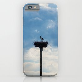 A Stork among the Clouds iPhone Case