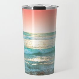 Aqua and Coral, 1 Travel Mug
