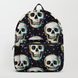 Gothic Skull and Stars Pattern Backpack