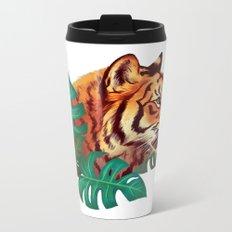 Monstera Tiger Metal Travel Mug