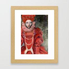 Queen Elisabeth/Newspaper Serie Framed Art Print