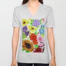 Flora Unisex V-Neck