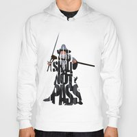 the lord of the rings Hoodies featuring Gandalf - The Lord of the Rings by Ayse Deniz