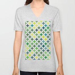 Geometric Star Pattern - Leaf #140 Unisex V-Neck