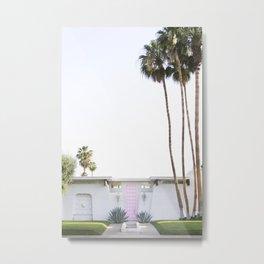 That Pink Door, Palm Springs Metal Print