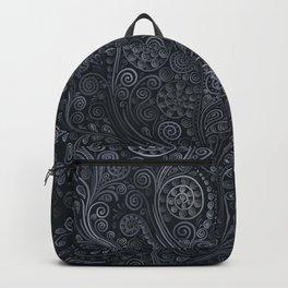 3D ornaments, soft blue Backpack