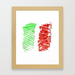 flag of Italia chalk 2- Italy,Italia,Italian,Latine,Roma,venezia,venice,mediterreanean,Genoa,firenze Framed Art Print