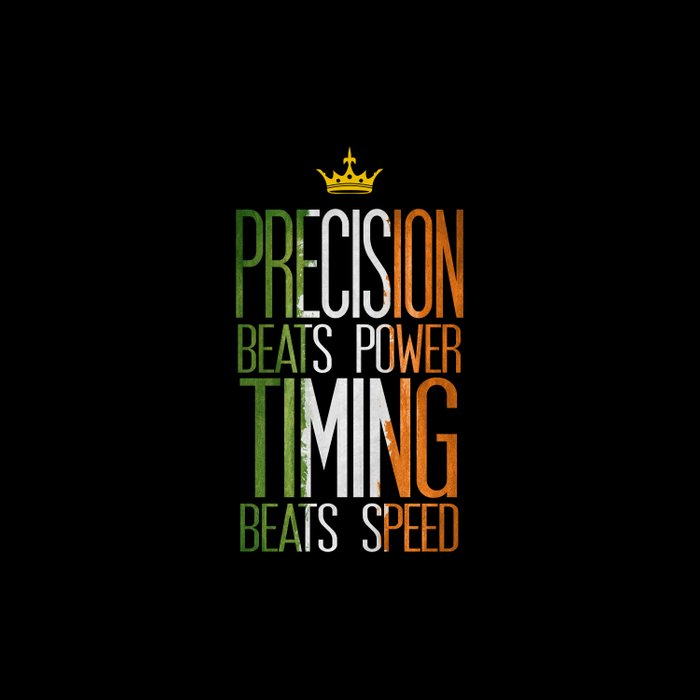 precision beats strength and timing beats speed Duvet Cover