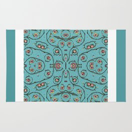 Romantic Florals and Vines Rug