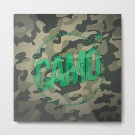 Camo Metal Print