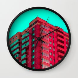 The Red Building Wall Clock