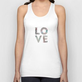 Marbled LOVE Unisex Tank Top