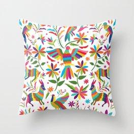 Mexican Otomí Design Throw Pillow