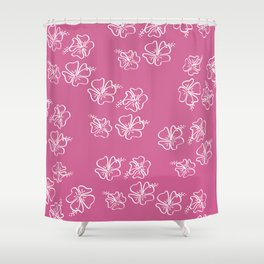 pink ibiscus  Shower Curtain