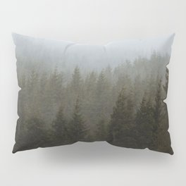 Snowy Forks Forest Pillow Sham
