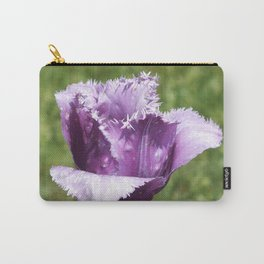 Purple Fringed Tulip Carry-All Pouch