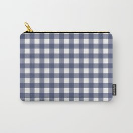 Navy blue gingham pattern Carry-All Pouch