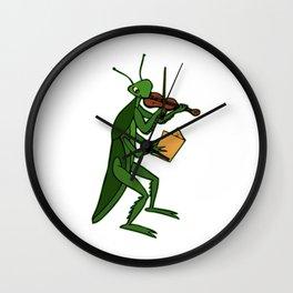 Playing Mantis Wall Clock
