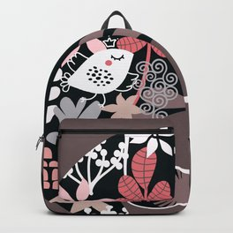 Afro Diva : Sophisticated Lady Pale Pink Peach Taupe Backpack