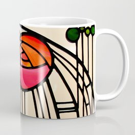 """Charles Rennie Mackintosh """"Stained glass window"""" Coffee Mug"""
